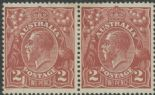 SG 78 ACSC 97(16)f. KGV Head 2d Red-Brown pair (AHSMP/457)